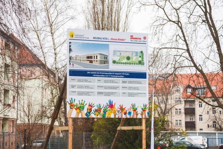 Spatenstich Kita Clara Weck - Leipziger Kinderstiftung