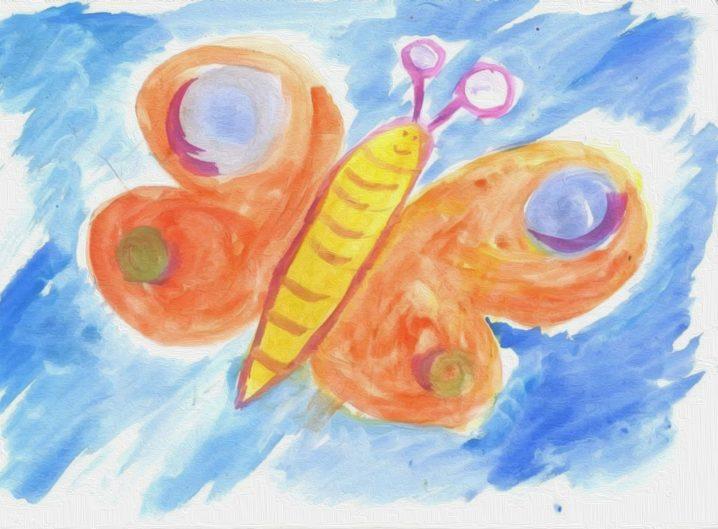 gemalter Schmetterling - Leipziger Kinderstiftung