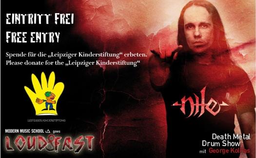 Flyer zum Drumworkshop - Leipziger Kinderstiftung