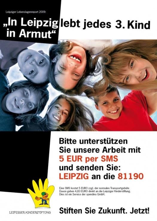 Flyer zum Spendenaufruf - Leipziger Kinderstiftung