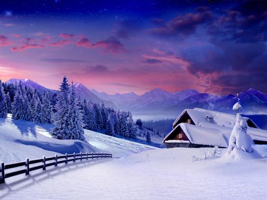 Malerische Winterlandschaft - Leipziger Kinderstiftung