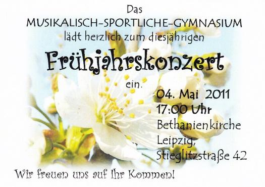 Konzert des Rahn Gymnasiums - Leipziger Kinderstiftung