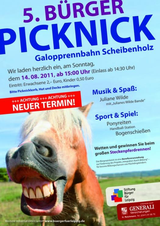 Bürgerpicknick Flyer - Leipziger Kinderstiftung