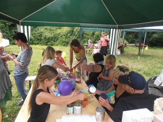 Stand der Kinderstiftung im Kinderrreich auf der Agra - Leipziger Kinderstiftung