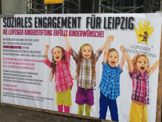 Weihnachtswünsche an Hainspitze - Leipziger Kinderstiftung