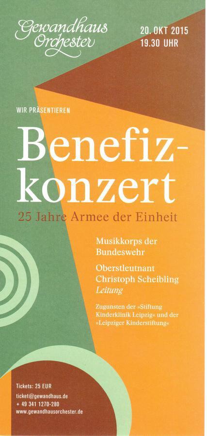 Benefizkonzert der Bundeswehr - Leipziger Kinderstiftung