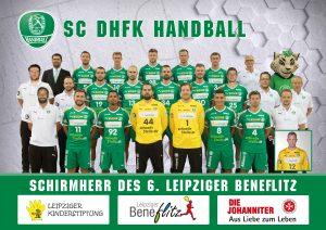 Mannschaft SC DHfK als Schirmherr des 6. Leipziger Beneflitz - Leipziger Kinderstiftung